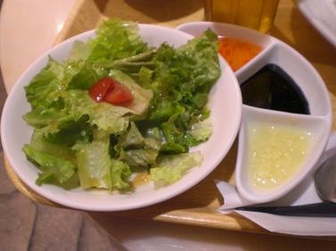 サラダと3種のソース.JPG